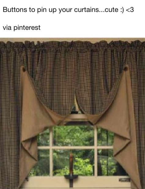 how to tie up curtains buttons tie up ordinary curtains dress it up pinterest