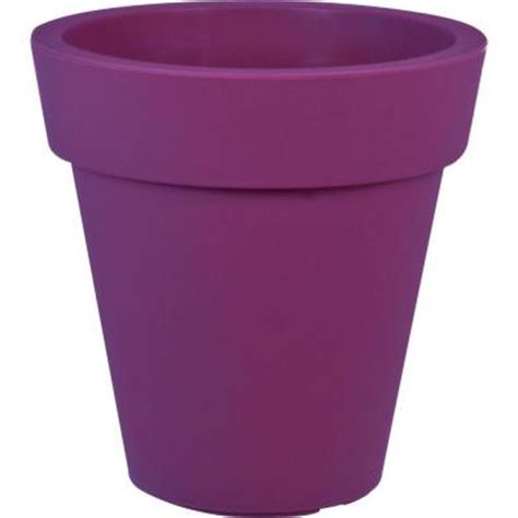 mela 20 in dia purple plastic planter 83434 the