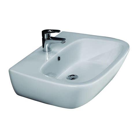 barclay products karla 550 wall hung bathroom sink in