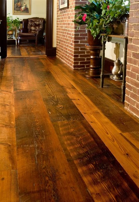 Distressed Rustic Wood Flooring - 4 ways to use distressed wood for a rustic home d 233 cor