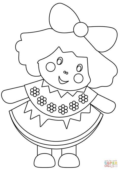 Disegno Di Bambola Da Colorare Disegni Da Colorare E