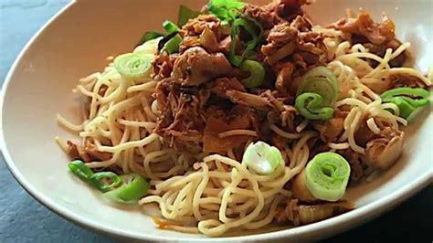 mie ayam jamur mushroom chicken noodle indonesian food mie ayam jamur mushroom chicken noodle indonesian food
