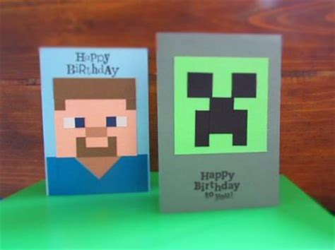 How To Make A Minecraft Birthday Card Minecraft Birthday Card Minecraft And Birthday Cards On