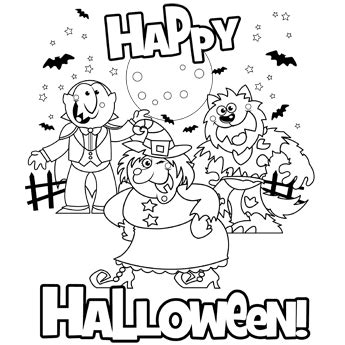printable halloween coloring pages pdf happy halloween free n fun halloween from oriental trading
