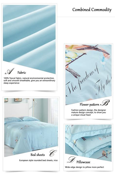 Bedcover Tencel 240x260 navydaly fashion design 3 bedding size tencel bed sheet with quilt cover ebay
