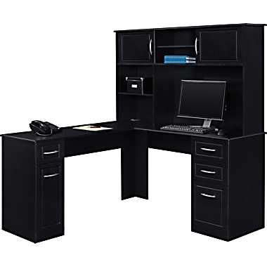 chadwick corner desk and hutch altra chadwick collection hutch nightingale black for