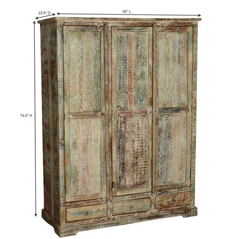 white wood wardrobe with drawers woodsburgh white washed reclaimed wood large wardrobe