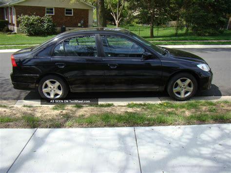 2004 honda civic ex sedan 4 door 1 7l black