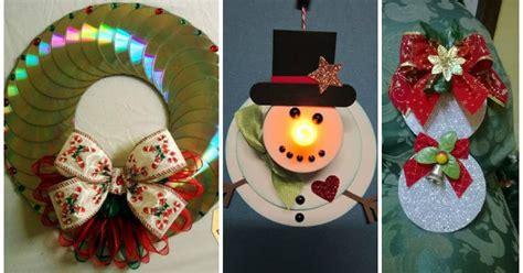 como hacer adornos de cds navide241os 11 adornos navide 241 os reciclando discos de cds que no sirven lodijoella