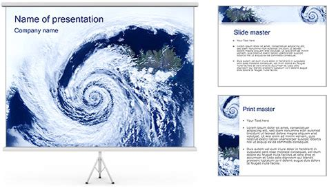 Cyclone Powerpoint Template Backgrounds Id 0000000321 Smiletemplates Com Hurricane Powerpoint Template Free