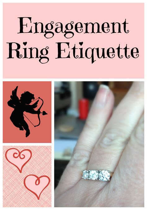 wedding engagement ring etiquette what am i supposed to