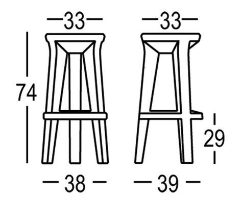 misure sgabello sgabello plust modello frozen stool arredare moderno