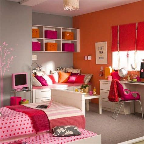 pink orange color combination  teen girls bedroom ideas
