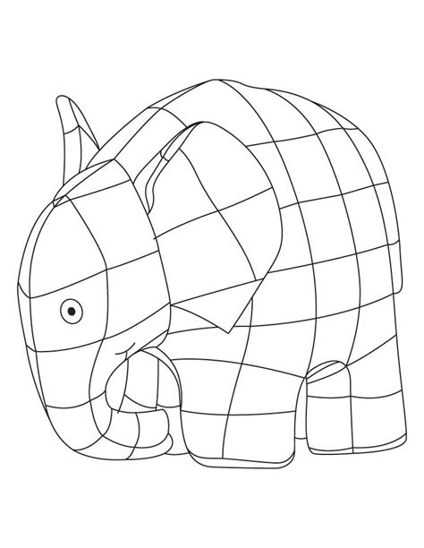 Free Coloring Pages Of Elefante Elmer Elmer Colouring Pages