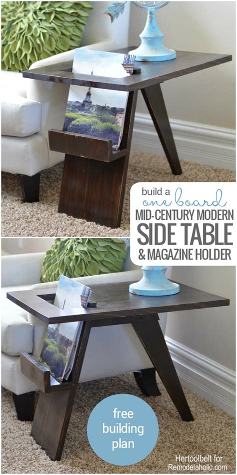 remodelaholic build  diy mid century modern side table