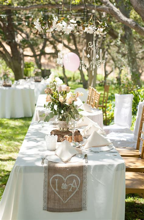 blog shabby chic backyard wedding