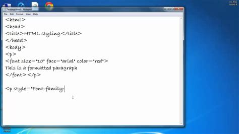change font color html how to change color font and size of a text in html