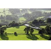 Rural Country Hills Tilt Shift Desktop Wallpaper