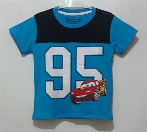 Harga Kaos Anak Merk Disney kaos mcqueen biru 95 1 6 disneys jk grosir eceran