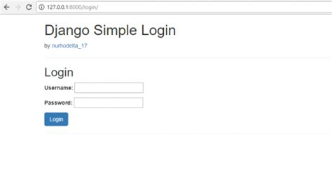 django creating a login page python django simple login and logout free source code