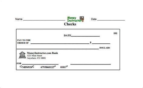 editable blank check template printable blank check www pixshark images