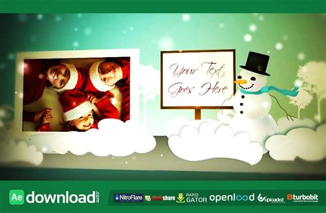 Holiday Pop Up Book Fluxvfx Template Free After Effects Project Free After Effects Pop Up Book After Effects Template