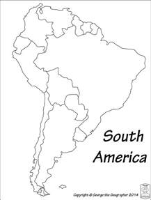 america outline map pdf best photos of south america base south america