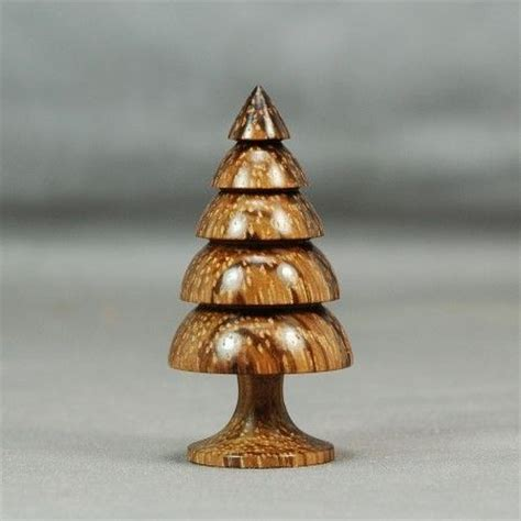 woodturning christmas trees dollhouse miniature wood turning hazelnut dymondwood tree trees