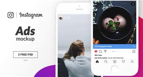 17 Free Instagram Mockup Psd Template Of All Kinds Texty Cafe Instagram Ad Template Psd