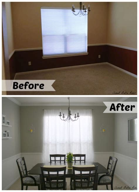 room decorating before and after makeovers dining room makeover before after paint colors