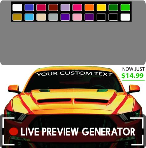 Auto Decal Maker by Car Decals Custom Car Decals And Windshield Decals Top