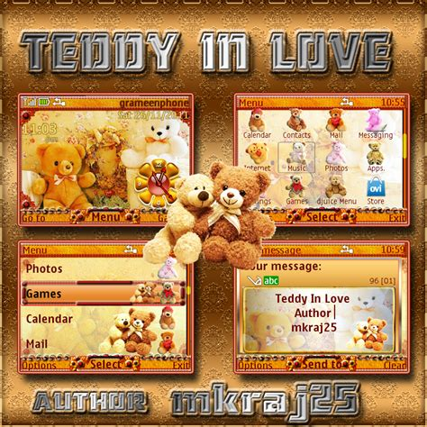 themes c3 love teddy in love theme for nokia c3 x2 01 phones mkraj25
