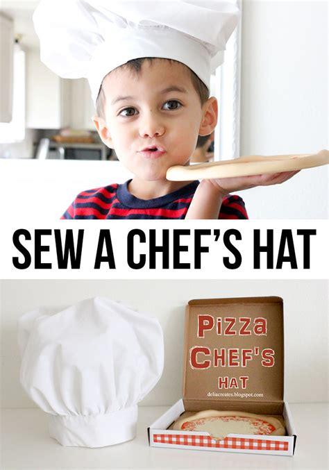 cloth sewing checks a magic pat trick pattern scissors diy pizza chef s hat tutorial andrea s notebook
