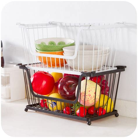 Fruit And Veg Rack by Kitchen Stackable Storage Rack Fruit And Vegetable