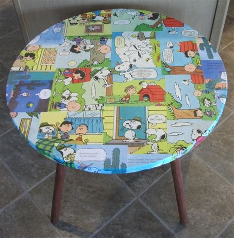 Decoupage Table - peanuts walking dead comic decoupage end tables by