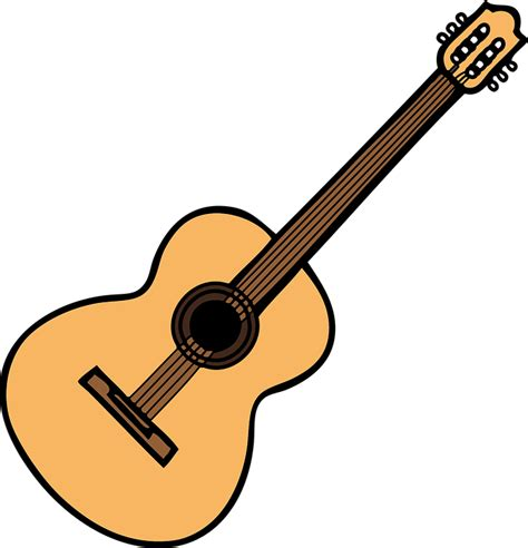 guitar clipart free vector graphic acoustic guitar guitar free