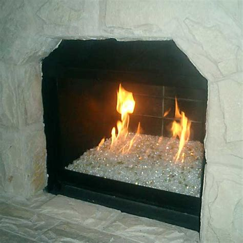 Glass Fireplace Rocks by Picture Gallery Of Converted Gas Fireglass