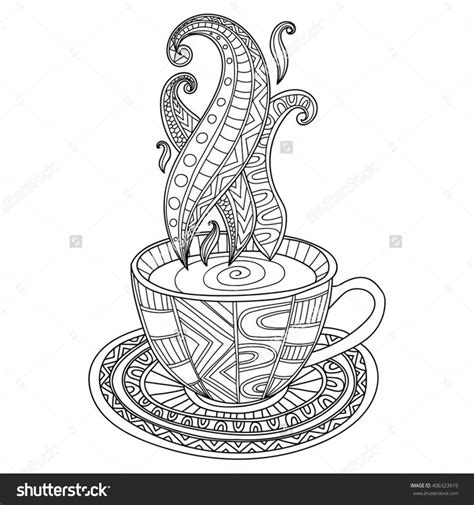 coloring pages for adults coffee 1000 images about adult colouring coffee tea cakes on