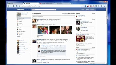 layout home page new facebook home page layout what do you think youtube