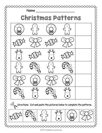 christmas pattern lesson 38 best christmas worksheets images on pinterest