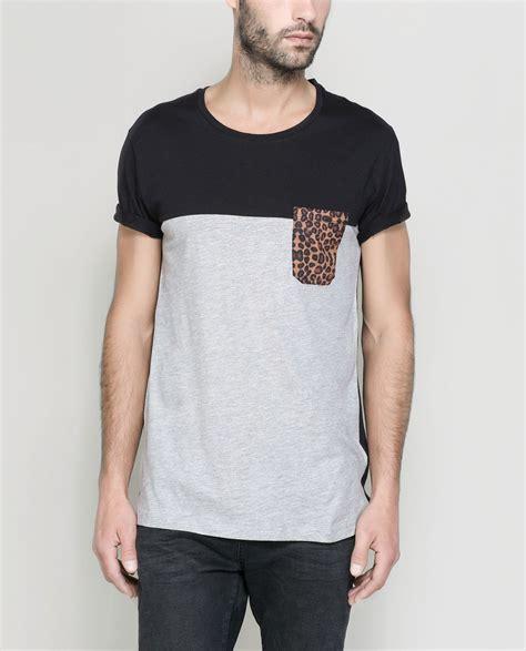 Segiempat Zara Hm Polos Mix camisetas hombre con bolsillo