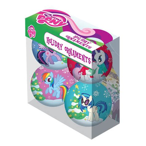 my little pony characters holiday ball ornament 4 pack