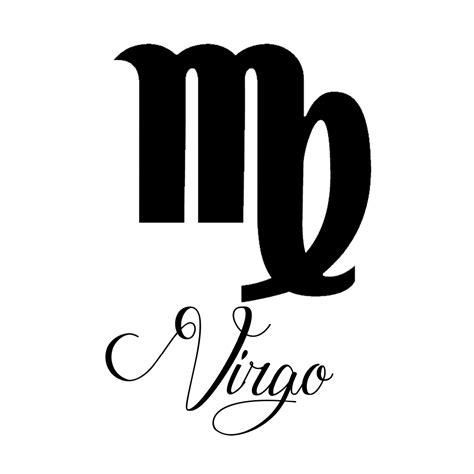 zodiac decal virgo symbol sticker choose color size ebay zodiac sign virgo script writing silhouette vinyl sticker