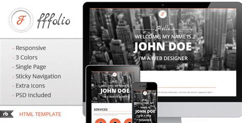 54 beautiful html5 portfolio website templates web