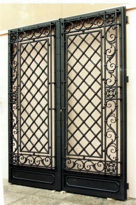 black metal double doorgate wrought iron doors iron