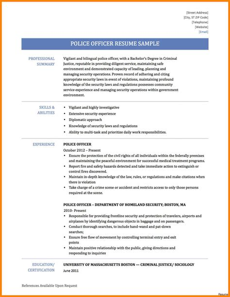 resume templates for a police officer fantastic curriculum vitae police officer ideas