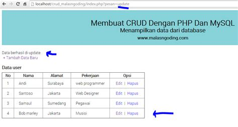 membuat database php dengan xp free download contoh program php