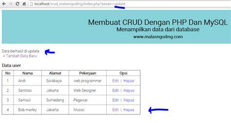 membuat website dengan php dan oracle crud php mysql phpsourcecode net