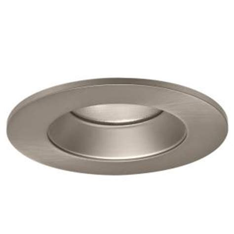 home depot recessed lighting a9fab20b halo 4 in satin nickel specular recessed lighting led reflector trim tl402sns the home depot