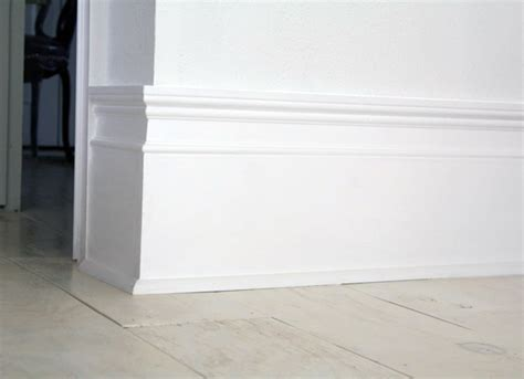 baseboard height diy extra tall baseboards little green notebook
